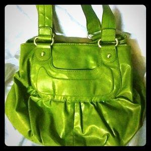 ELLE Green Faux Leather Shoulder Bag